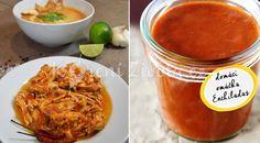 Červená enchiladas omáčka - recept Burritos, Enchiladas, Curry, Ethnic Recipes, Food, Breakfast Burritos, Curries, Eten, Meals