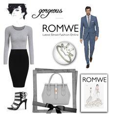 """2#ROMWE"" by kivericdamira ❤ liked on Polyvore featuring Vera Wang and romwe"