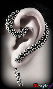 I think I'll actually order this. cause ohmygodineedit.    Earring 3D OCTOPUS Ear Cuff for LEFT ear