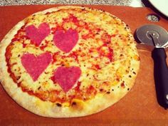 Sometimes LOVE is spelled P-I-Z-Z-A    How to make heart-shaped pepperoni pizza