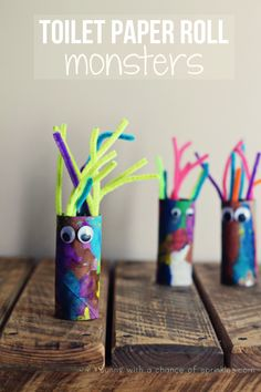 Kids Activity: Toilet Paper Roll Mosters