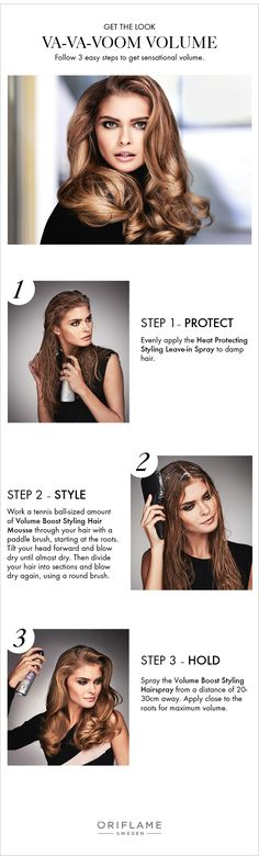 When you want that sensational boost of volume, simply follow our 3 steps using products from the HairX Styling range.