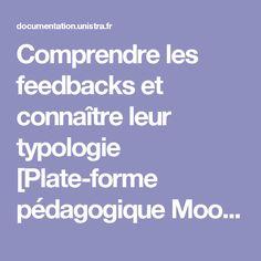 Comprendre les feedbacks et connaître leur typologie [Plate-forme pédagogique Moodle - Guide de l'enseignant ]
