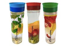 Fruit Infuser 3 Pak, Drink Delicious Fruit Infused Water All Day Long!