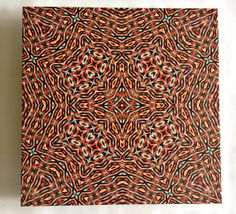 Ceramic Tile  12x12 Inches  Optical Art by Maiero on Etsy, $40.00