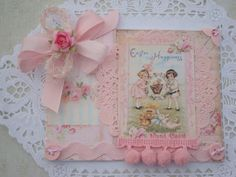 Shabby Chic Easter Card #2014 #Easter #Day #tag #decor #craft #ideas www.loveitsomuch.com