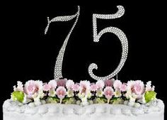 Image result for 75th birthday cakes for women