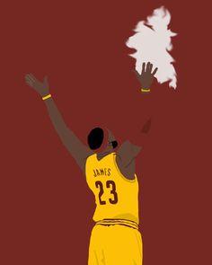 "LeBron James ""Chalk Toss"" Print/Poster"
