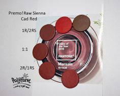 Jan 1 Cad Red & Raw Sienna - #Polymer #Clay #Colormix