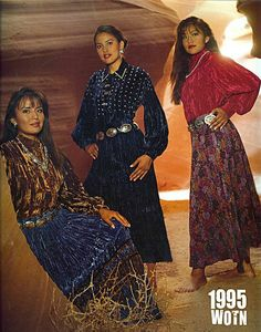 Real women of the NAVAJO. I've known Miss Shayna (middle) for a long time....still beautiful as ever.