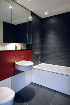 Elegant and luxury bathroom design ideas for a unique home decor. Here are some Bathroom Tile Trends for See more clicking on the image. Bathroom Red, Top Bathroom Design, Bathroom Decor, Amazing Bathrooms, Tile Trends, Best Bathroom Tiles, Luxury Bathroom, Grey Bathrooms, Bathroom Design Trends
