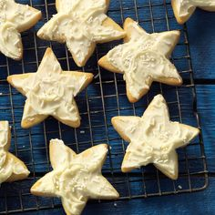 Grandma's Star Cookies Recipe -My husband's grandma would only make these butter cutouts with a star cookie cutter. I use various shapes for celebrations throughout the year. —Jenny Brown, West Lafayette, Indiana