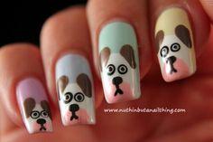Pastel dog nail art