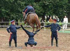 Crazy Stunts - watch the rear hooves...