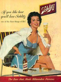 Vintage Beer Poster - Schlitg Beer