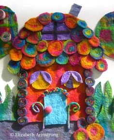 Felting piece by Elizabeth Armstrong