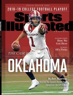 Murray Featured on Cover of SI - University of Oklahoma Ok Sooners, Oklahoma Sooners Football, Ou Football, College Football Playoff, Football Helmets, Collage Football, Sports Humor, Ou Sports, Sooner Sports