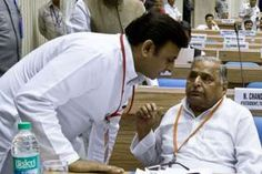 Image copyright                  AFP                                                                          Image caption                                      There have been growing differences between Akhilesh Yadav and his father, Mulayam Singh Yadav                                A father expels his chief minister son from his political party, takes him ba