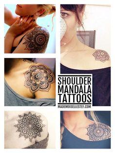 Shoulder mandala tattoo inspiration // Mademoiselle Stef - Blog Mode, Dessin, Paris   Tattoo Ideas
