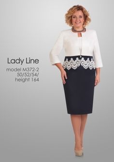 Suits & sets Lady Line Trendy Dresses, Plus Size Dresses, Stunning Dresses, Beautiful Outfits, Skirt Fashion, Fashion Dresses, Sunday Dress, Mothers Dresses, Over 50 Womens Fashion