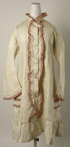 Dressing jacket Date: ca. 1880 Culture: Hungarian Medium: cotton