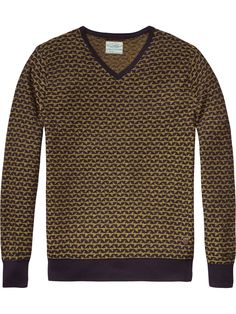 Jacquard-Pullover in Retro-Optik   Pullover   Herrenbekleidung von Scotch & Soda