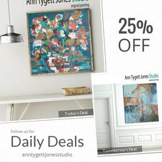 Today Only! 25% OFF this item.  Follow us on Pinterest to be the first to see our exciting Daily Deals. Today's Product: Floral Still Life Abstract, abstract floral, original floral abstract, ACRYLIC FLORAL PAINTING, beautiful abstract painting, modern wall art Buy now: https://www.etsy.com/listing/479170935?utm_source=Pinterest&utm_medium=Orangetwig_Marketing&utm_campaign=Daily%20Deal   #etsy #etsyseller #etsyshop #etsylove #etsyfinds #etsygifts #handmade #abstractart #handmadewithlove…