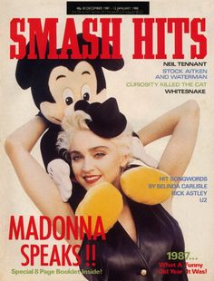 Madonna on the cover of Smash Hits Magazine #MadonnaCovers #Madonna