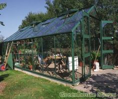Eden Monarch Greenhouse in green with polycarbonate glazing. Buy online now at the best UK prices with free delivery.