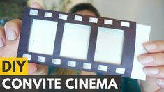 Convite de aniversário tema CINEMA |DIY - Faça você mesmo