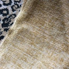 "STUNNING+LUXURY+DONGHIA+STRIATED+""ANTIQUED""+CHENILLE+FABRIC+GOLDEN+BEIGE+2+PIECE+#Donghia"