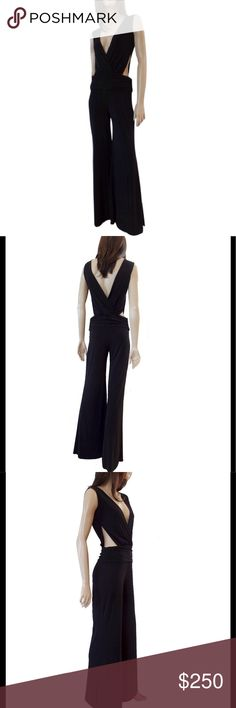 """Spectacular vintage but new jersey jumpsuit Brand new vintage. 30"""" inseam flare leg. Great classy fit well made fantastic SIDELESS styling from the brand that knows sexy. Selling as collectors vintage. Frederick's of Hollywood Dresses Maxi"""