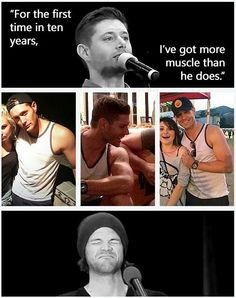 Ha! Yeah, but only 'cause Jared had to have shoulder surgery. #Jensen