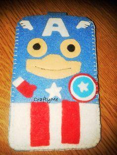 Captain America The Avengers Capitan America #Felt Filz Handmade Capitão América #Phonecase  Cases https://www.facebook.com/CraftyMeITALY/