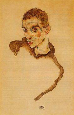 Egon Schiele: autorretrato.