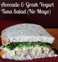 Avocado and Greek Yogurt Tuna Salad Recipe (No Mayo) Another recipe where husband did not even miss the mayo one bit!