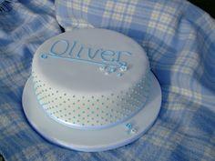 Baptism+Cake+Ideas | christening cake wises farm kitchen Little baby boy christening cake ...