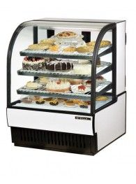 "36"" Refrigerated Bakery Case with Curved Glass Front"