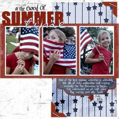 Good Ol' Summertime, digital layout by MamaK321