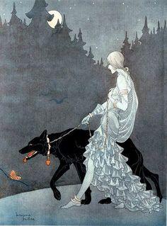 1931 Marjorie Miller [Estes] (American illustrator, 1899-1995) ~ Queen of the Night
