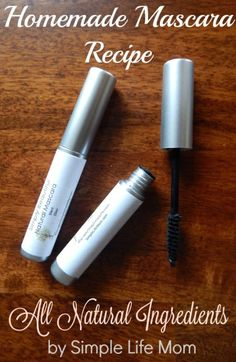 A Homemade Mascara recipe made with all natural ingredients that really works. It doesn't run, thickens and lengthens lashes and is easy to make. Mascara