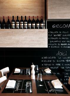 La Cucineria, Rome, 2011   木皮配黑色