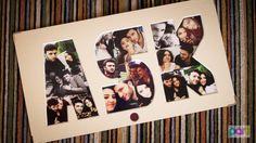 Yeni evli çift için ev hediyesi - sosyal medya paylaşımlarından oluşan AŞK çerçevesi - Kutu Kutu Parti