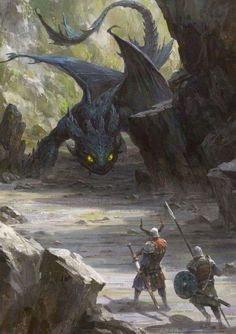 Anonymous said: Could you make like dragons with vikings? Answer: Dragons and vikings Dark Fantasy Art, Fantasy Artwork, Mythical Creatures Art, Magical Creatures, Forest Creatures, Dragons, Dragon Artwork, How To Train Dragon, Creature Design