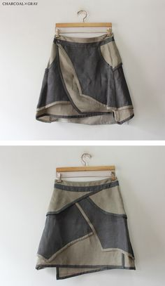Sewing clothes, recycle old clothes, sweater skirt, upcycled clothing, alte Diy Clothes Storage, Sewing Clothes, Boho Outfits, Fashion Outfits, Recycle Old Clothes, Diy Clothes Videos, Altered Couture, Creation Couture, Altering Clothes