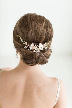 Wedding Hair Vine Set with Earrings , Bridal Headpiece Set, Bridal Pearl Hair Swag Set