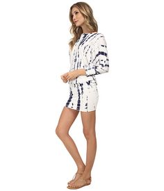 Culture Phit Millie 3/4 Sleeve T-Shirt Dress White Tie-Dye - Zappos.com Free Shipping BOTH Ways