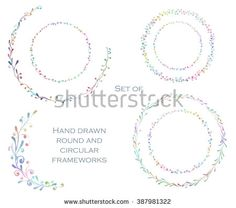 Stock Images similar to ID 348765695 - vector floral set pattern with...