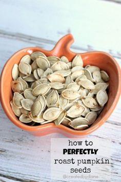 How to PERFECTLY roast pumpkin seeds @createdbydiane