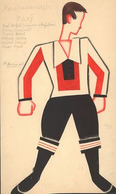 Tatiana Bruni: costume design for The Bolt, 1931 Courtesy GRAD and St Petersburg Museum of Theatre and Music